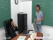 Сисястая учительница